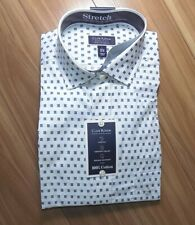 Club Room Regular Fit Performance Stretch Foulard Print Dress Shirt Large - NWT