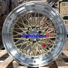 XXR 536 18 x 9 +18 Gold Deep Dish Lip Wheels Rims 5x4.5 98 04 Ford Mustang Cobra