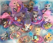 Littlest Pet Shop 1 CAT Bed TEENSIE TINIEST Accessories RANDOM GIFT BAG 7 PC Lot