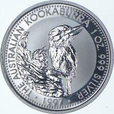 Rare Silver 1 Oz. 1997 Australia $1 Kookaburra Round .999 Fine Silver *960