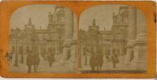 Louvre Paris Instantané France Photo Stereo L5n60 VintageAlbuminec1875