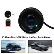 "2"" 52mm Universal LED Narrowband Air Fuel Ratio Black Face Analog Racing Gauge"