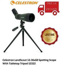 Celestron LandScout 12-36x60 Spotting Scope & Tabletop Tripod 52322 (UK Stock)