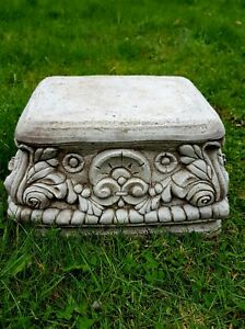 Beautiful SQUARE PLINTH Highly Detailed Stone Garden Ornament