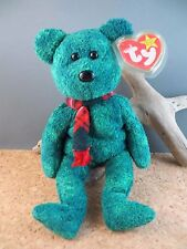 1999 Ty Beanie Babies Baby Wallace Winter Green Toy Teddy Bear #238