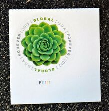 2017USA #5198 Global Forever Rate - Succulent Green -  Plate Number Single Mint