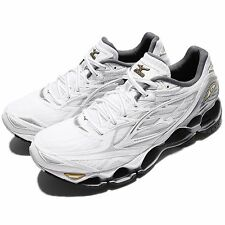 Mizuno Wave Prophecy 6 White Silver Gold Men Running Shoes Trainers J1GC17-0003