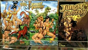 JUNGLE FANTASY Preview, #2 & #3 Avatar Press Comics AL RIO Adrian Vixens GD/VG