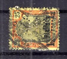 Turkey Firmenlochung Perfin Bio on 15 Impeccable Postmarked (B8186