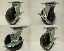 "6"" x 2"" Swivel Casters Phenolic Wheel w/ Brake (4) 1200lb each Tool Box"