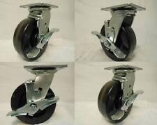 6 X 2 Swivel Casters Phenolic Wheel With Brake 4 1200lb Each Tool Box
