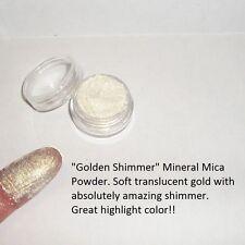 """Gold Shimmer"" Mineral Mica Powder Eye Shadow ~ Pale gold w/ shimmer  ~ Vegan"