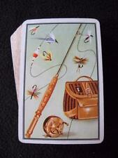 VINTAGE 1960's PACK of PLAYING CARDS - FISHING - ROD & REEL