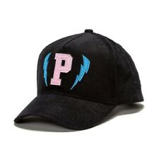 +++ NEW PINK DOLPHIN CORDUROY LIGHTNING P SNAPBACK HAT CAP IN BLACK +++