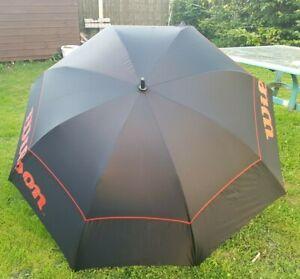 Wilson Dual Canopy Storm Performance Golf Tennis Sunshade Umbrella Black/Red