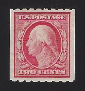 US #391 1910 Carmine Wmk 190 Perf 8.5 Horz Mint OG LH VF SCV $42.50