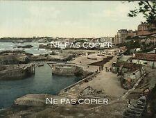 BIARRITZ port des pêcheurs photochrome vers 1890-1900 Pyrénées-Atlantiques 64
