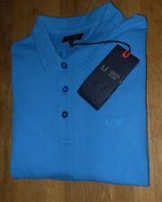 Armani Jeans Mens Blue Short Sleeved Polo Shirt  Size UK XL