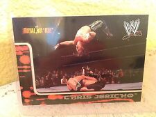 WWE CHRIS JERICHO ROYAL RUMBLE 2002 FLEER COLLECTOR TRADING CARD #42 & HOLDER