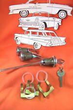 1955 1956 1957 Chevy Belair Door Trunk Lock Set New Belair Sedan Hardtop Conv