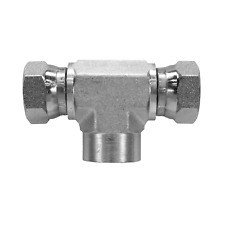 1602 08 08 08 Hydraulic Fitting 12 Female Pipe X 12 Female Pipe Swivel Tee