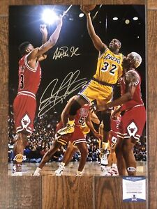 Magic Johnson Dennis Rodman Autographed signed 16x20 photo Beckett Lakers Bulls