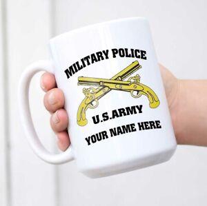 MP Military Police Printed Ceramic Coffee Tea Cup Gift mug US Custom Name Mug