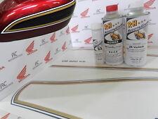 Honda CB 550 cuatro charol conjunto de pintura Candy Antares red + tankzierstreifen Dekor