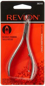 *1-Pack* Revlon Half Jaw Cuticle Nipper Accurate Trimming Stainless Steel 38310