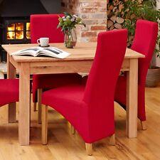 Mobel Oak Full Back Dining Chair Red Pair of 2