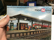 Kibri N Scale Passenger Station Bahnsteig Oberesslingen Item 7504 Sealed New OB