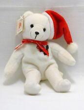 "STATE FARM INSURANCE White Bean Bag Plush 9"" CHRISTMAS Bear w/ Tag"