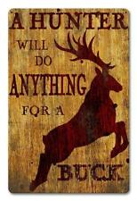 Buck Deer Hunting Metal Sign Man Cave Garage Body Shop Cabin Barn Shed Lodge 2