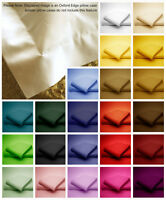 Poly Cotton Bolster Pillow Oxford Edge Housewife Pillow Cases plain Dyed Colors