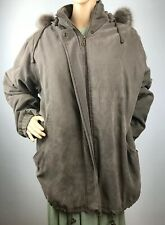 BROMLEY SPORT DUPON THERMOLITE PLUS INSULATION HOODIE COAT LARGE BROWN FAUX FUR