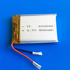3.7v Li Po Polymer Battery 800mAh For MP3 Video Pen DVD GPS Recorder PSP 603040