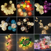 10/20LED Battery Operated Fairy String Lights Party Wedding Indoor Outdoor Decor