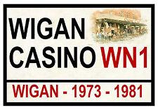 WIGAN CASINO - STREET / ROAD SIGN - SOUVENIR NOVELTY FRIDGE MAGNET - GIFTS - NEW