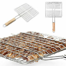BBQ Barbecue Mesh Net Grid Basket Outdoor Cooking Roast Tool Grilling Meat Fish
