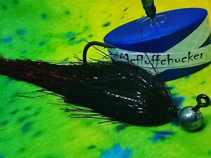 PIKE /BASS- full metal red/black 6 grm jig 10/11 inch made in scotland