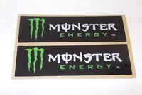 COPPIA ADESIVI MONSTER ENERGY IN VINILE MORBIDO E SPESSO STICKERS DECALCO