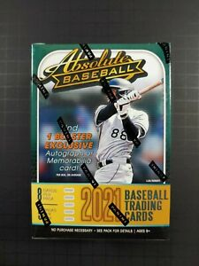 2021 Absolute Baseball Blaster Box Factory Sealed 1 Auto Or Memorabilia Per Box