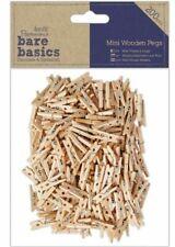 Docrafts Papermania Wood Craft Embellishment Pk200 Bare Basics Mini Wooden Pegs