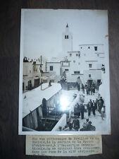 PHOTO DE PRESSE 1937 PAVILLON DE LA TUNISIE A L'EXPOSITION INTERNATIONALE DE 193