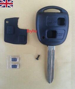 2 button remote key fob case TOY43 blade For Toyota Yaris Corolla RAV4 Hiace 3