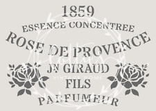 A5 STENCIL ROSE DE PROVENCE ❤ Furniture Vintage French Shabby Chic 190 MYLAR
