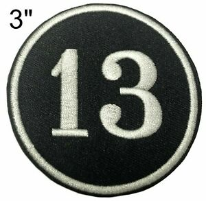 Lucky Number 13 Embroidered Patch iron-on Badge Decorative Applique Biker Emblem