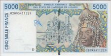 WEST AFRICA - MALI BANKNOTE P413Dk-1229, 5000 5,000 5.000 FRANCS 2002, AU
