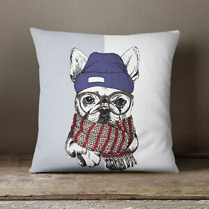 S4Sassy Home Decorative Multicolor Dog Print Cushion Case Throw Pillow Cover