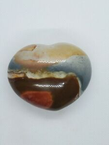 Polychrome Jasper Heart Crystal Rock Specimen Healing Natural Stone Chakra
